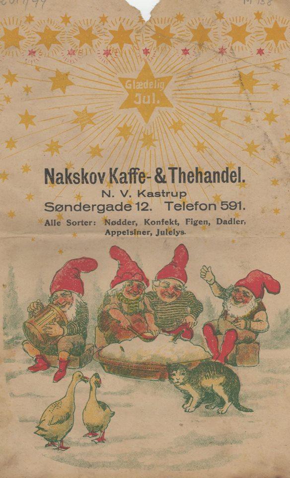 Papirspose fra Nakskov Kaffe  og Thehandel