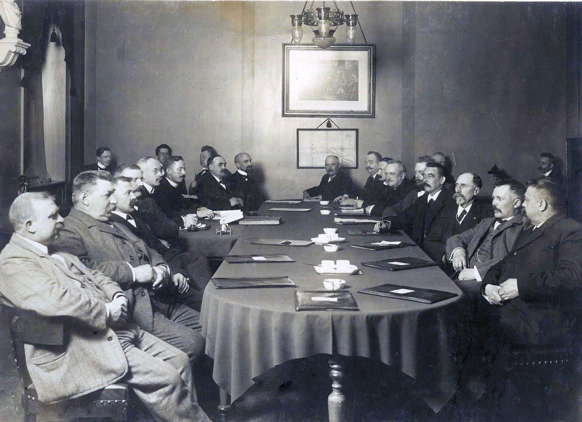 Byrådsmøde 1920