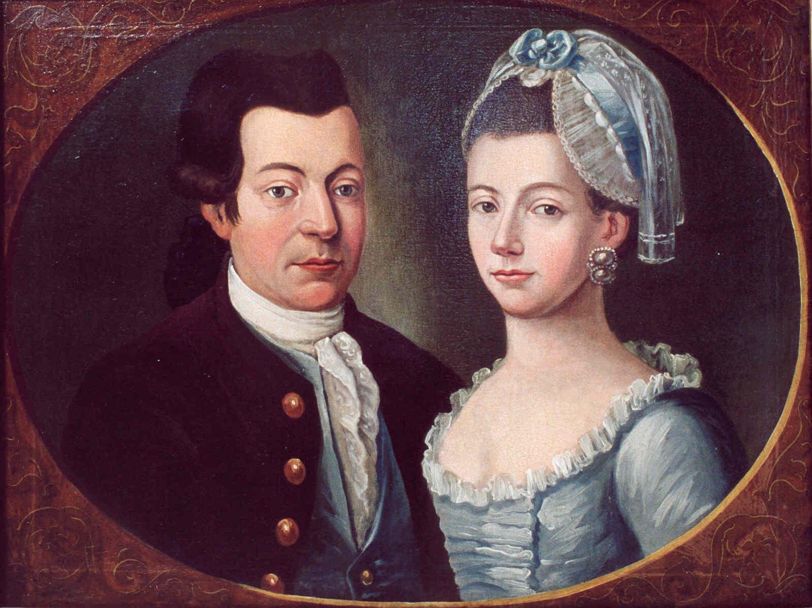 Maleri Mathias og Anne Kathrine Dethmer