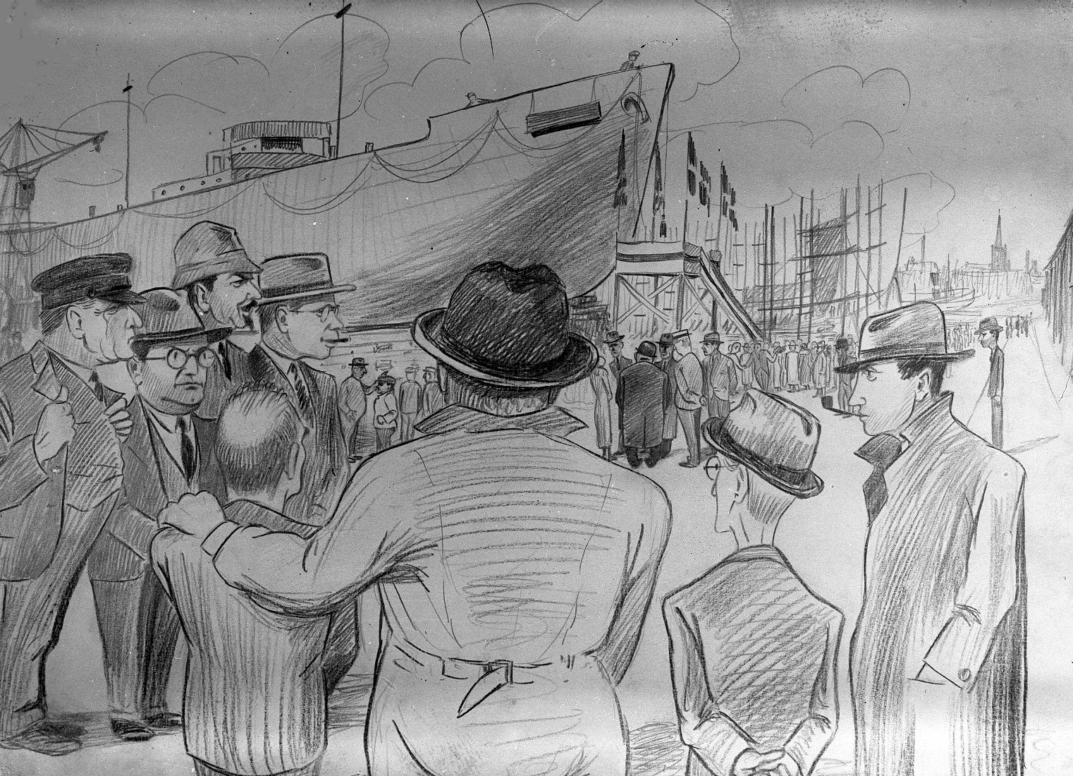 Tegning af stabelafløbning