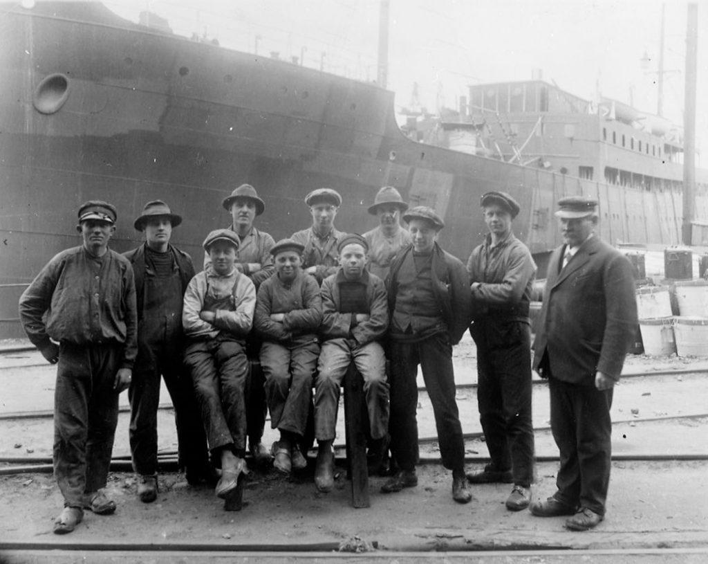 Skibstømrerlærlinge 1920