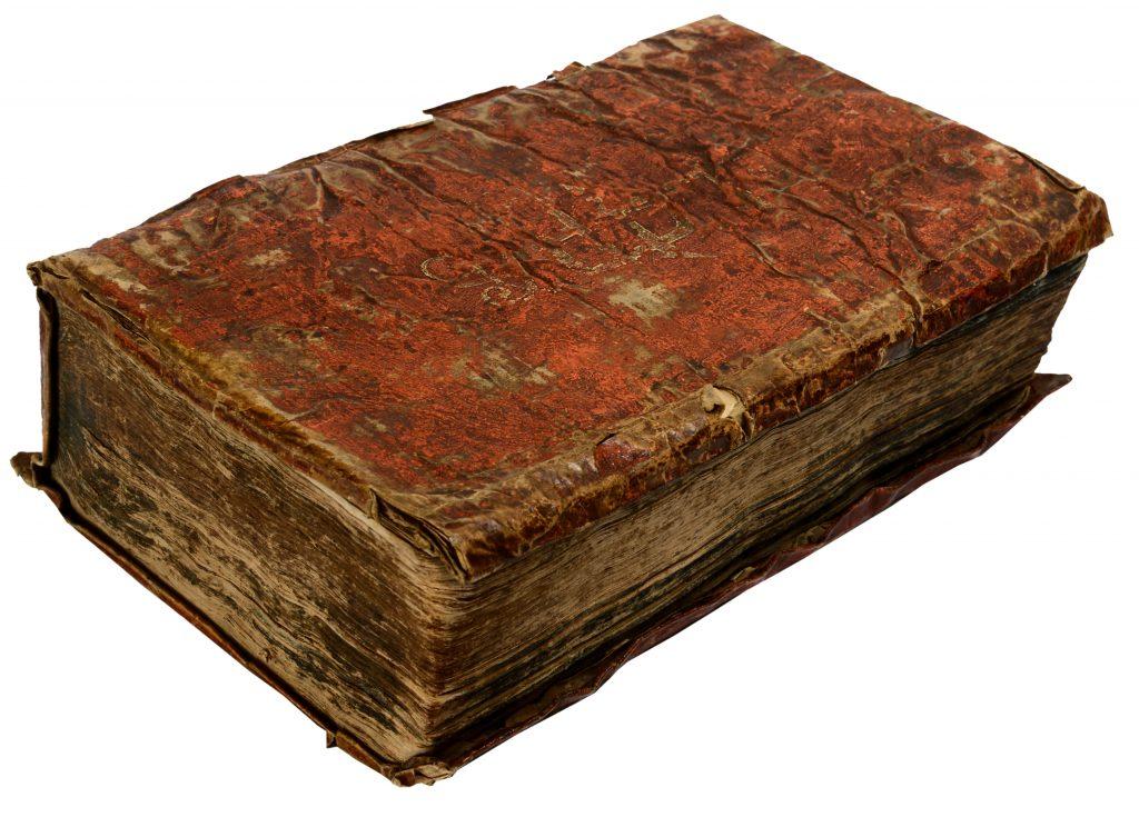 Rødt omslag på bogen