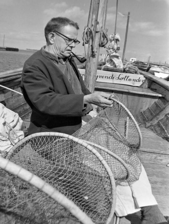 Hilmar Wulff med fiskenet