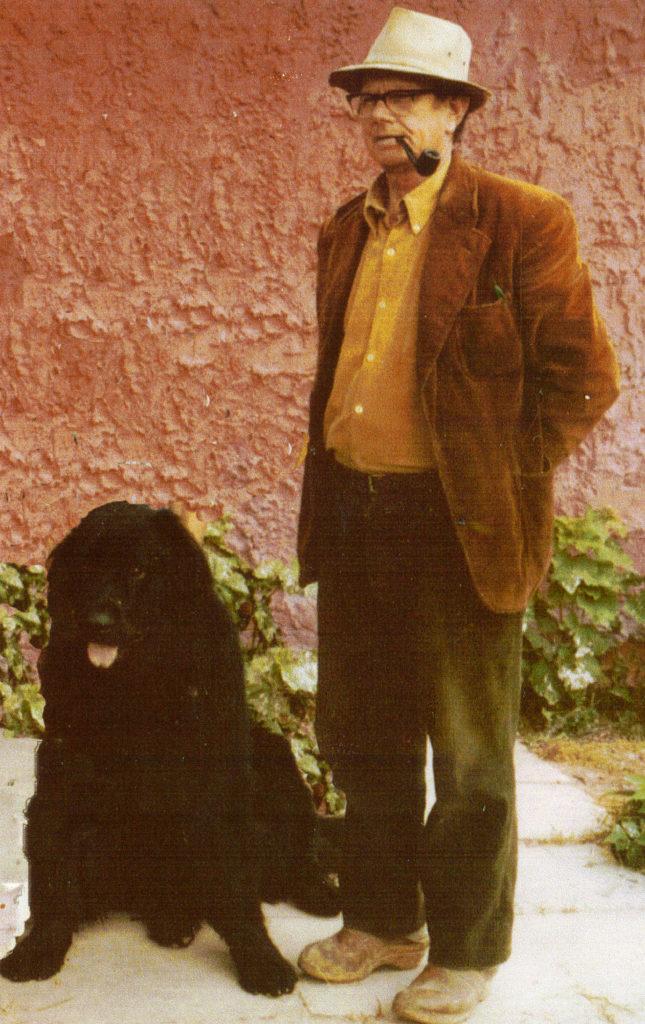 Hilmar Wulff med sort hund