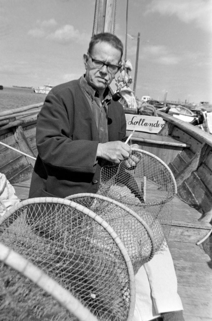Hilmar Wulff på sin båd