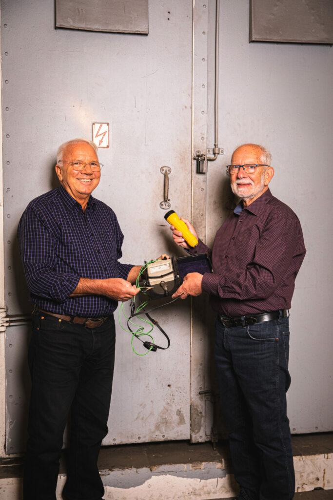 Elektriker Henning Dehn Clemmensen og elingeniør Ole Kaldahl