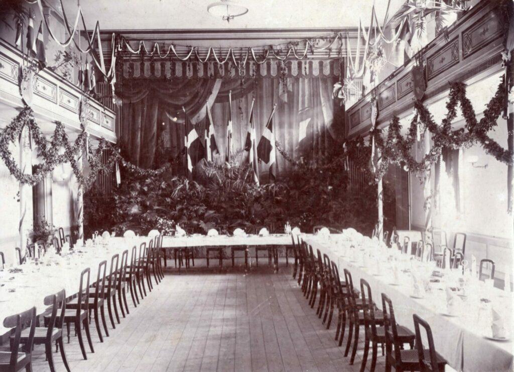 Balkonsalen på Hotel Skandinavien i 1933