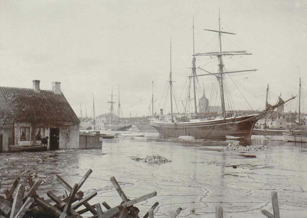 Oversvømmelse i Nakskov Havn 1904