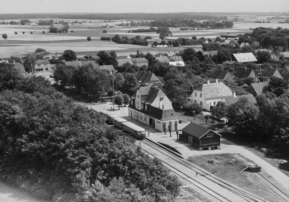Horslunde station hvor toget holder