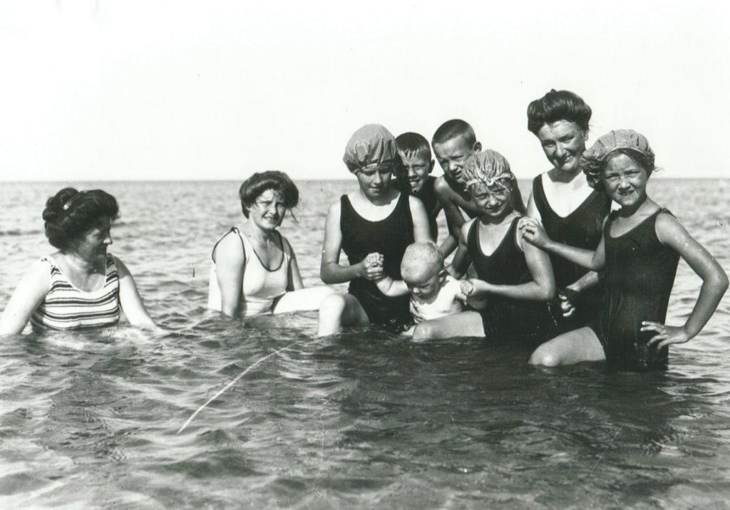 Familien Allerup bader ca. 1910